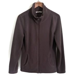 Old Navy | Brown Full Zip Up Fleece Jacket | Large